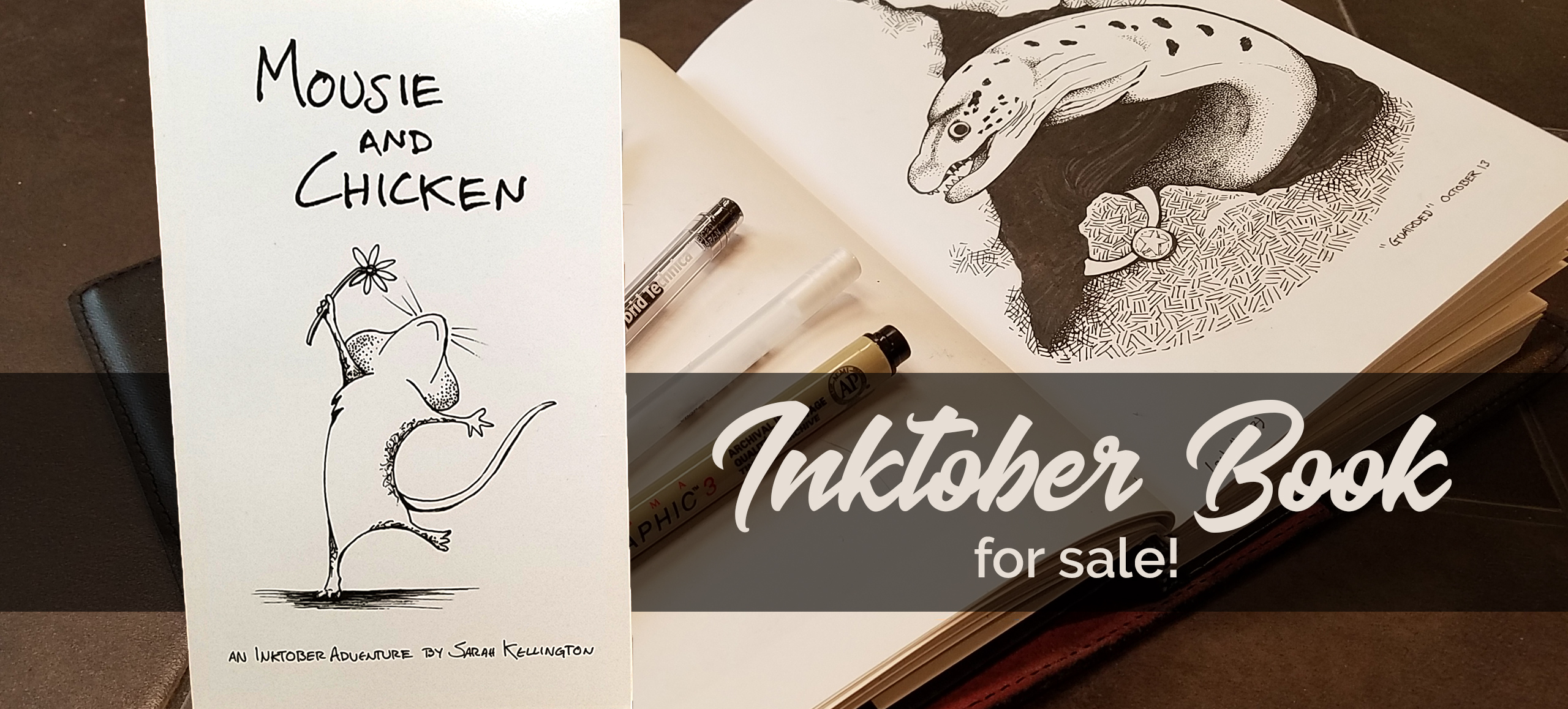 Mousie and Chicken: Inktober drawings now a book